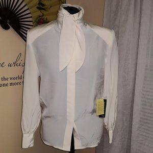 Vintage 1980s Harve' Benard silk blouse